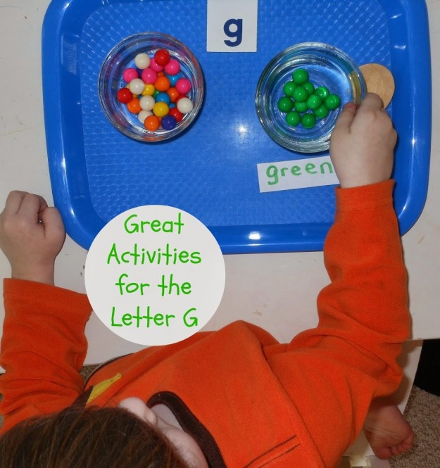 Great Preschool letter g activities, Sensory Play, hands on learning and so much more.