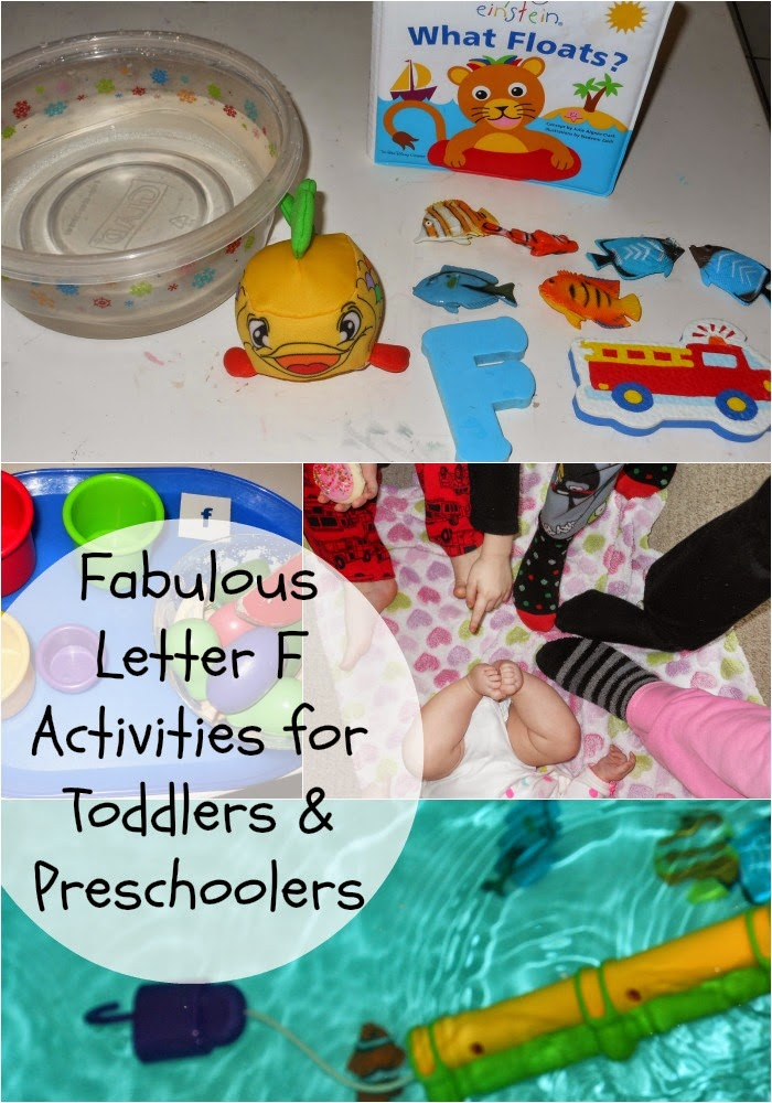 Toddler & Preschool Alphabet Activities for Letter F