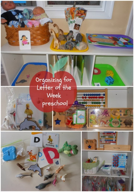 Organize for Letter of the Week Preschool part 1