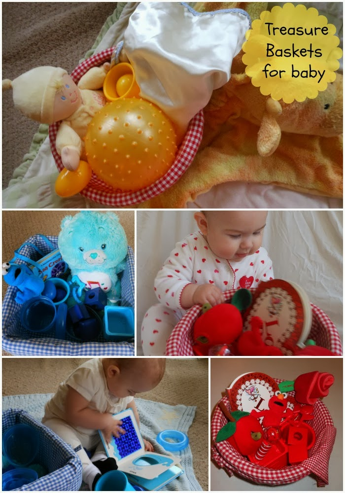 Treasure Baskets for Baby – Easy Sensory Play for Babies