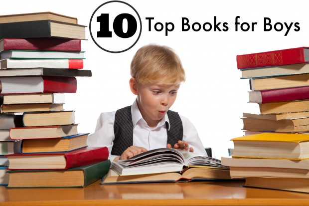10 Top Books for Boys, Perfect for early elementary age children and older. Fiction and Non fiction books for kids. You don't want to miss these books.