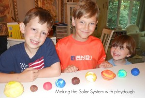 solar system unit study, sensory play , homemade moon dough, books, crafts, games and more www.naturalbeachliving.com