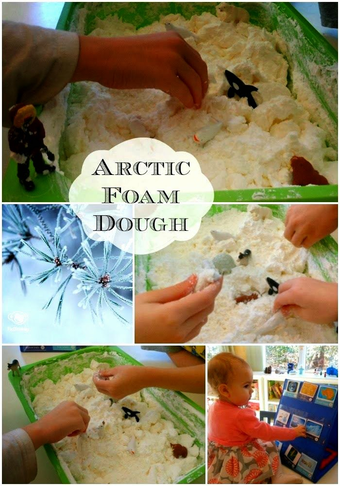 Arctic and Antarctica Frozen Foam Dough, Sensory play, Science, Homemade, Printables, Homeschooling, Geography, Kids Activities, www.naturalbeachliving.com