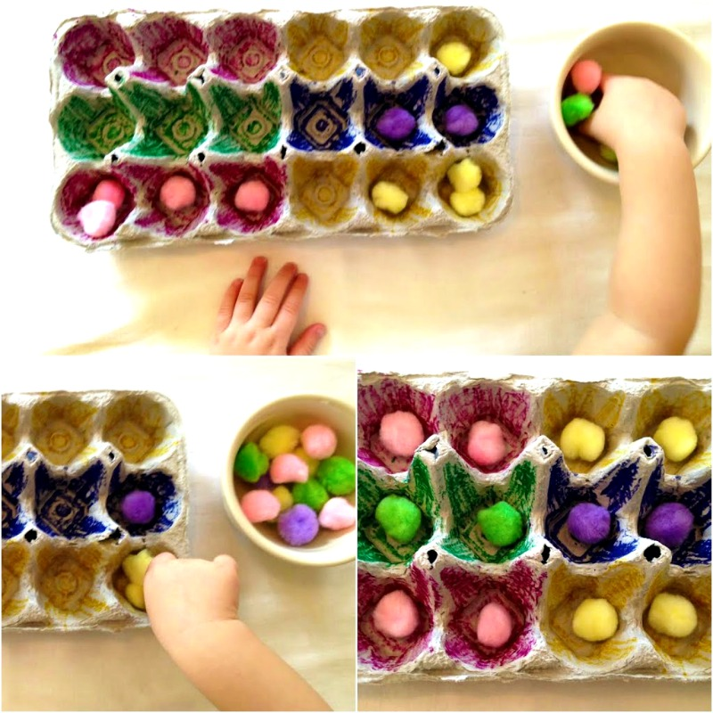 Perfect DIY spring toddler activities, homemade blocks, Montessori activities, fine motor skills, sensory play and more www.naturalbeachliving.com