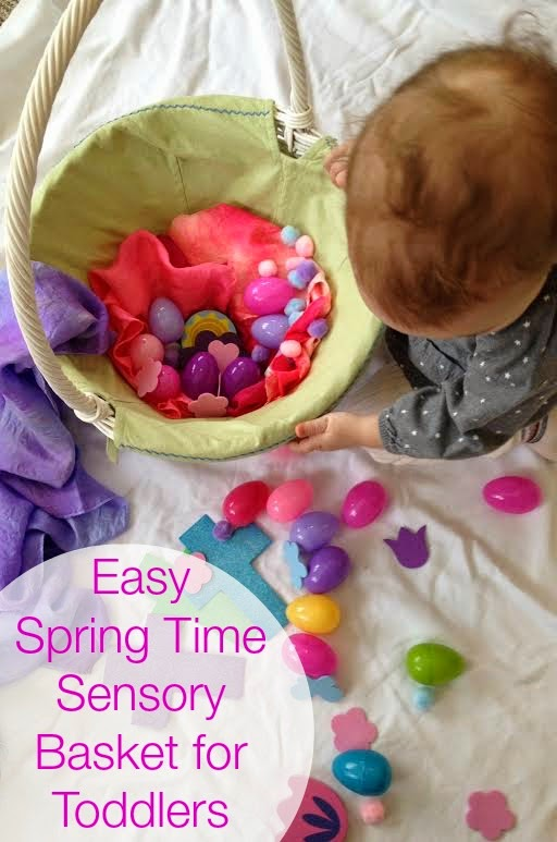 Springtime Easter Sensory Play Basket for Toddlers