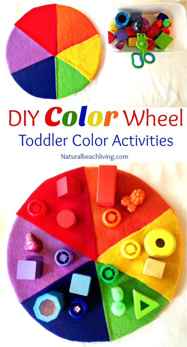 Easy DIY Color Activity for Preschool and Toddler age children, Toddler color activities, fine motor skills, color matching activity, Teaching colors
