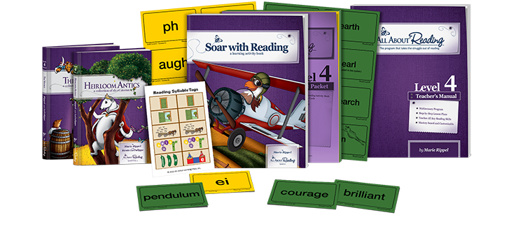 This Homeschool Reading Program is The Best! All About Reading (AAR) is an intensive phonics program for pre-kindergarten through about fourth grade and great for Special Needs, Learning Challenges, Autism, and Dyslexia. A hands on learning approach