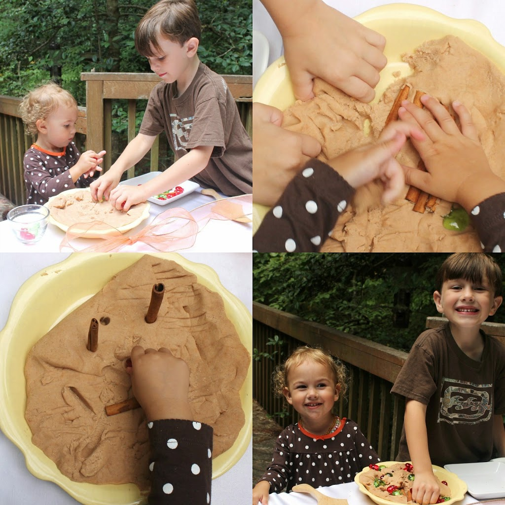 No Cook Natural Cinnamon Play Dough, Hands on learning with an amazing natural sensory play dough perfect for the fall, The Best Cinnamon Play dough Recipe