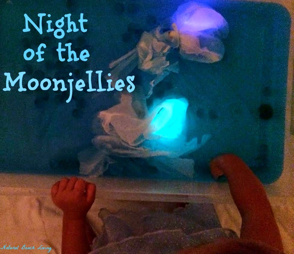 Five in a row sensory play, Night of the Moonjellies, Jelly fish sensory play and unit study that is AWESOME!!! Classic book and Activities