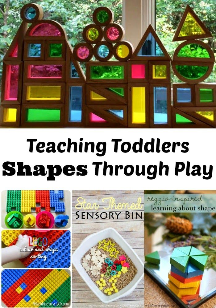 Teaching Toddlers Shapes Through Play