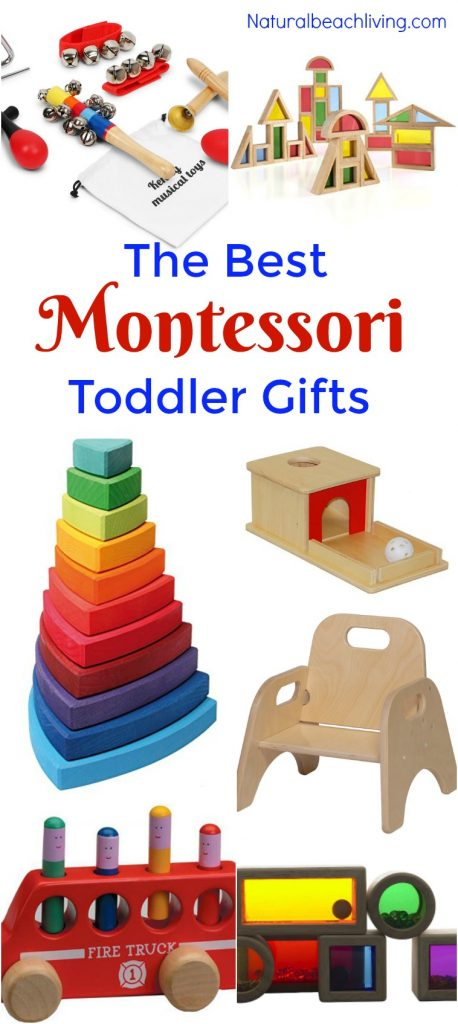 The Best Gifts for a Montessori Toddler, You'll find Montessori Toys for 1 year olds and Montessori Toys for 2 year olds as well as great ideas for Montessori Toddler Development, The Best Toddler Toys for Montessori Activities and Montessori at home