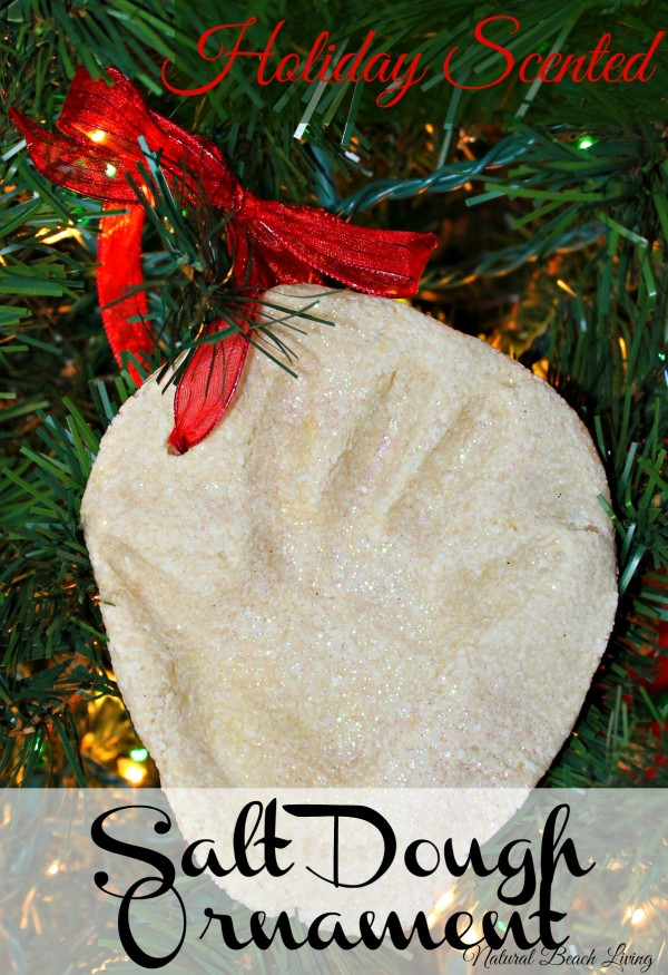 Scented Salt Dough Handprint ornament , sensory play, homemade, www.naturalbeachliving.com