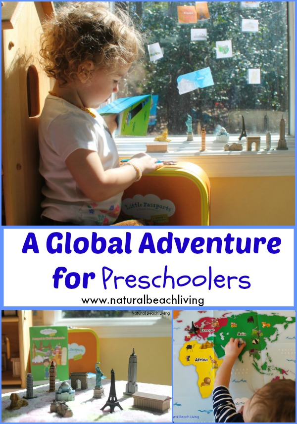 Geography for preschool, Toddler and preschool activities, Hands on learning, Landmarks, Little Passports, Early Explorers, www.naturalbeachliving.com