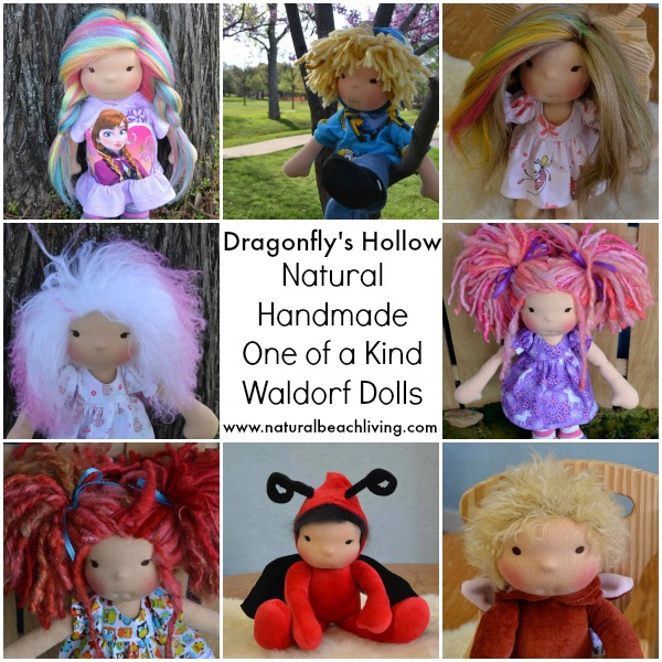 Waldorf dolls, natural toys, handmade dolls, natural materials, gifts for kids, imaginary play, www.naturalbeachliving.com