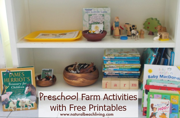 Preschool Farm Activities, These Montessori Farm Activities and Free Printables are sure to engage and excite your Preschoolers. Add these to your learning for a Montessori inspired farm unit, Free Farm Animal 3 part cards, Farm books for kids, and hands on activities perfect for a preschool farm theme.