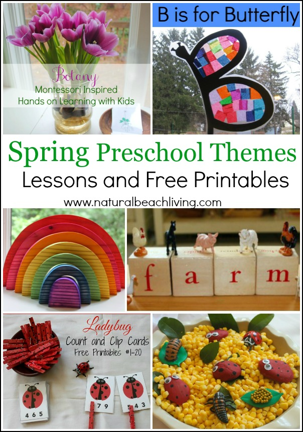35+ Spring Preschool Themes with Lessons and Activities