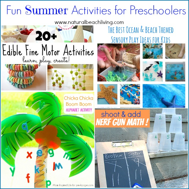 Fun Summer Activities for Preschoolers (Linky 24)