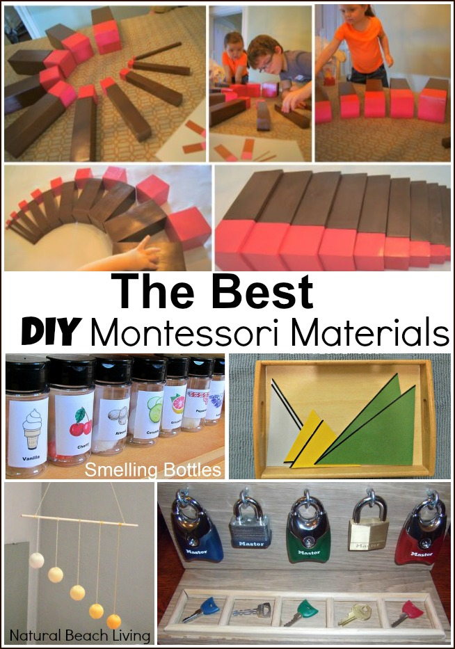 Awesome Montessori Inspired Activities, DIY, Plus FREE Printables. Perfect for babies into elementary school with Montessori materials and kids activities.