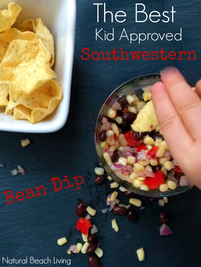 the best kid approved southwestern bean dip