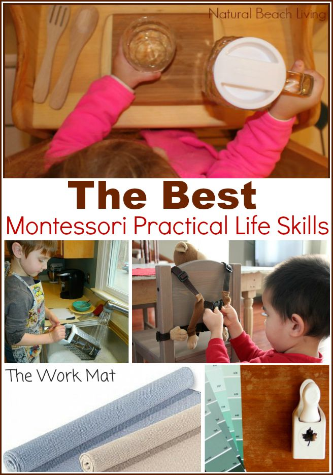 The best thing about Montessori practical life skills is they are perfect for every family. Food preparation for kids, life skills for kids to learn, early childhood skills, Montessori Activities that can be done in every home, pouring, washing, sweeping and so much more.