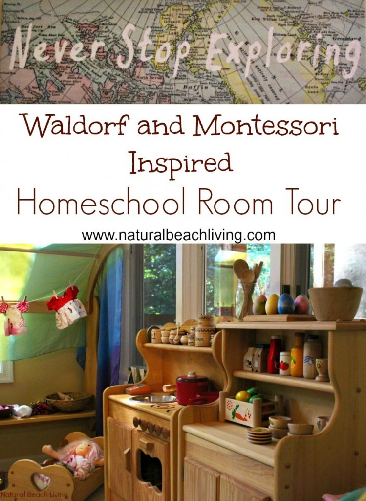 Montessori and Waldorf Inspired homeschool room Tour