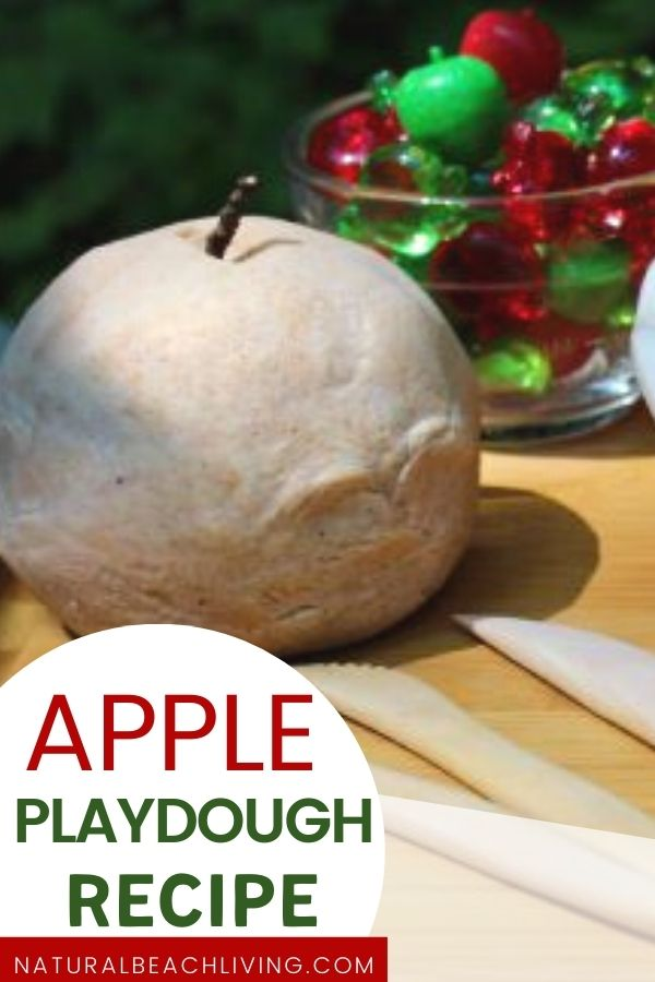 Easy apple pie sensory play dough. This quick and easy no cook playdough recipe is scented with apple pie spice and it makes a perfect fall playdough idea. THE BEST Natural Apple Pie Playdough, Homemade Apple Pie Scented Play Dough for an amazing Fall Sensory Play, Easy recipe and full of fun!