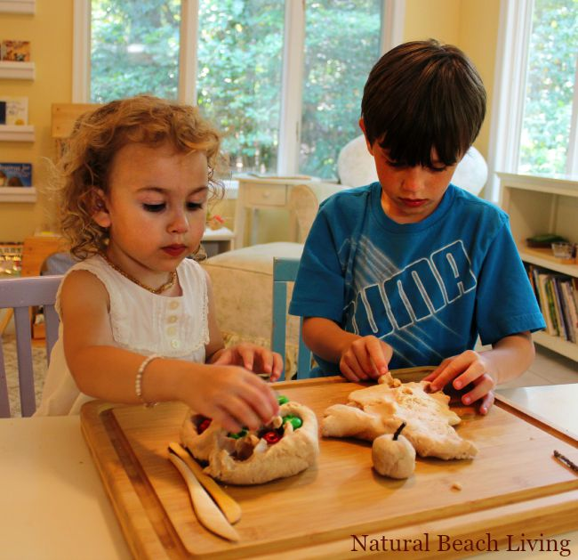 THE BEST Natural No Cook Play Dough, Homemade Apple Scented Play Dough for Fabulous Fall Sensory Play,Easy recipe and full of fun!www.naturalbeachliving.com