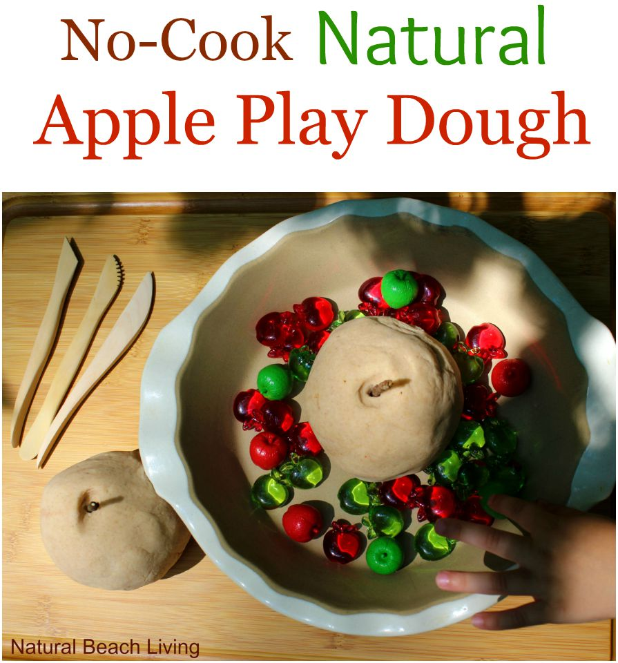 THE BEST APPLE SCENTED NO COOK PLAY DOUGH