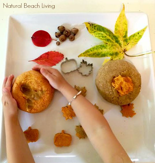 Amazing Autumn Scented Salt Dough, Perfect for Fall Sensory Play, Autumn Playdough recipe and Salt Dough Recipe, Easy homemade salt dough for fall, Nature sensory play and an Easy Homemade Recipe for kids