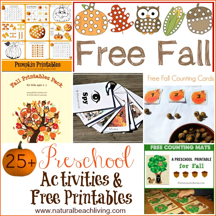 30+ Fall Preschool Activities and Free Printables