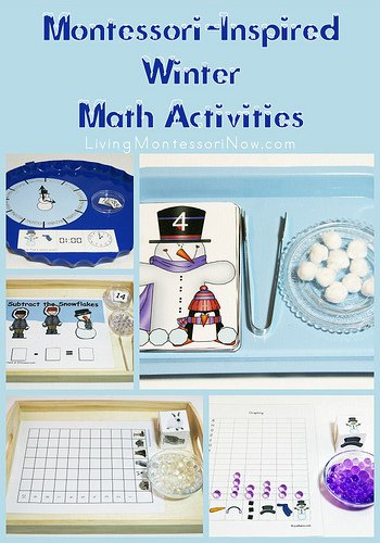 20 AWESOME WINTER PRESCHOOL ACTIVITIES AND FREE PRINTABLES, Sensory play, Montessori , Math, Nature, Art, Science and so much more