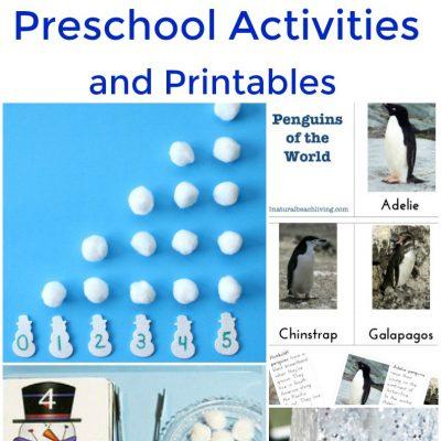35+ Winter Preschool Activities and Free Printables