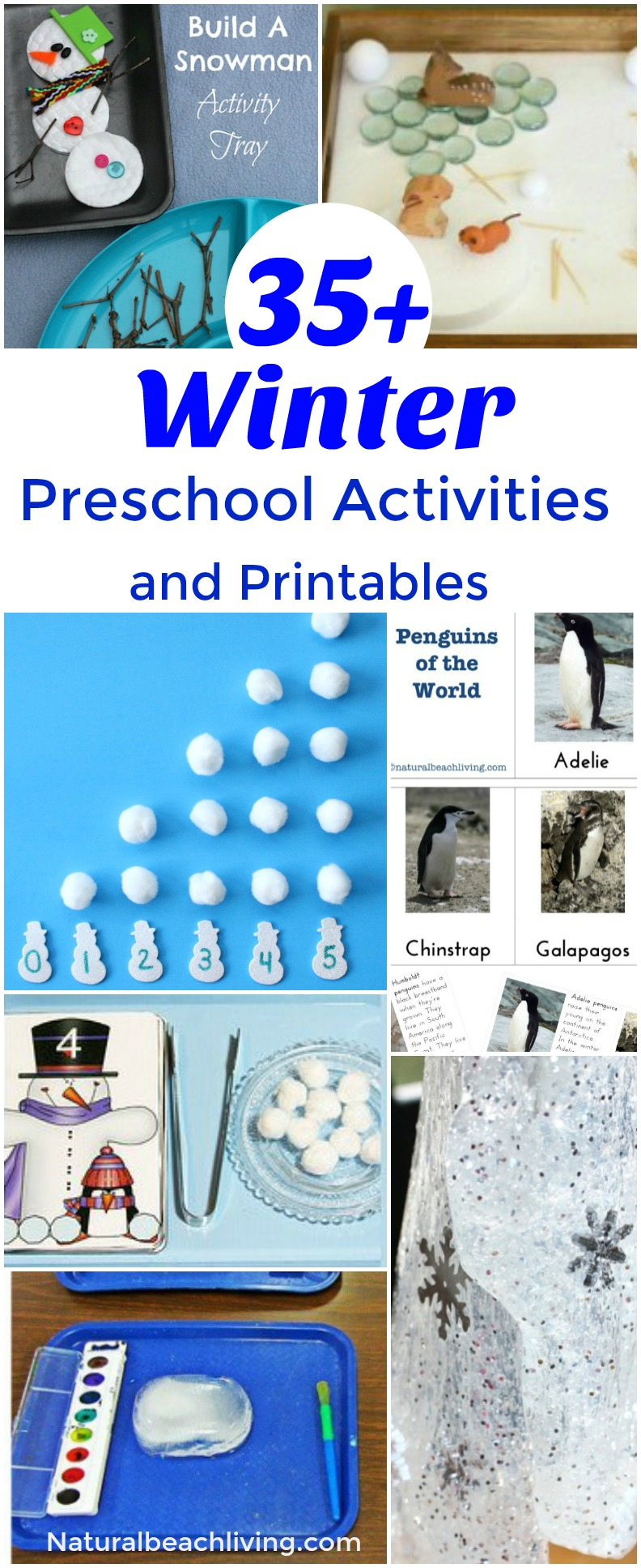 35+ Best Winter Preschool Activities and Free Printables - Natural ...