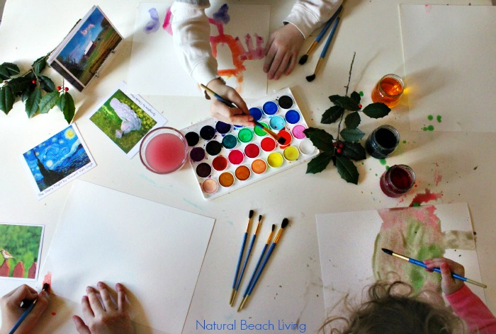 Beautiful Art Inspired by Nature with FREE PRINTABLES, Hands on learning, natural materials, and artistic activities for Fine Arts, Natural Learning