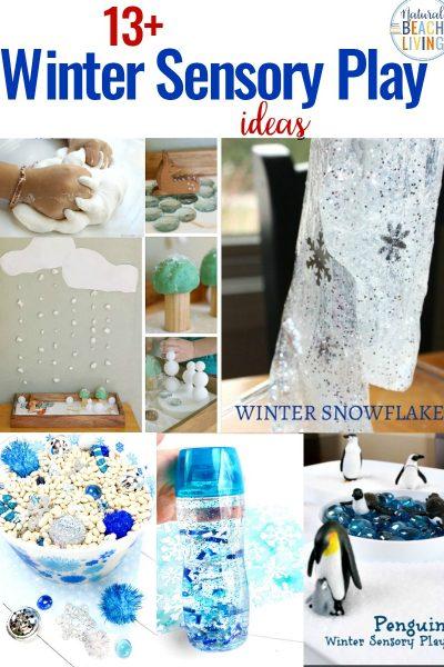 13+ Winter Sensory Play Ideas for Kids