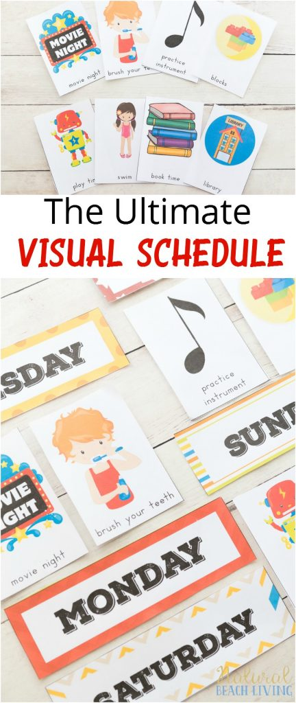 Printable Picture Schedule Cards, Daily Visual Schedule, Visual Schedules, Special Needs, Autism, 10+ Visual Schedule Printables for home & school, Visual Schedule Printable, #Autism #Visualschedule #specialneeds