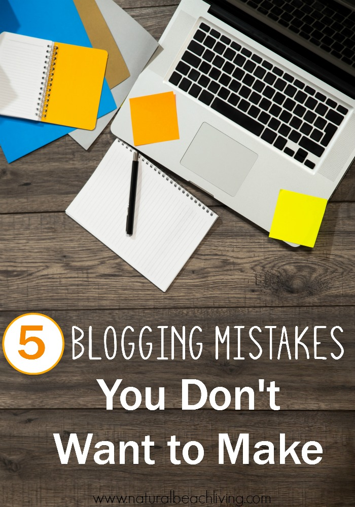 5 Blogging Mistakes You Don't Want to Make, Tips, Tricks, and important blogging ideas to keep blogging fun and keep you happy