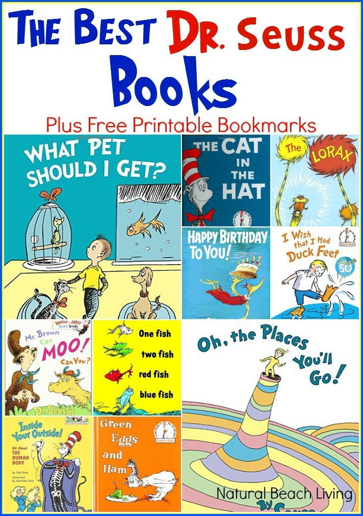 Celebrate Dr. Seuss with great ideas and Great Books, Free Printables. The Best Dr. Seuss Books, Dr. Seuss learning activities, FREE BOOKMARKS