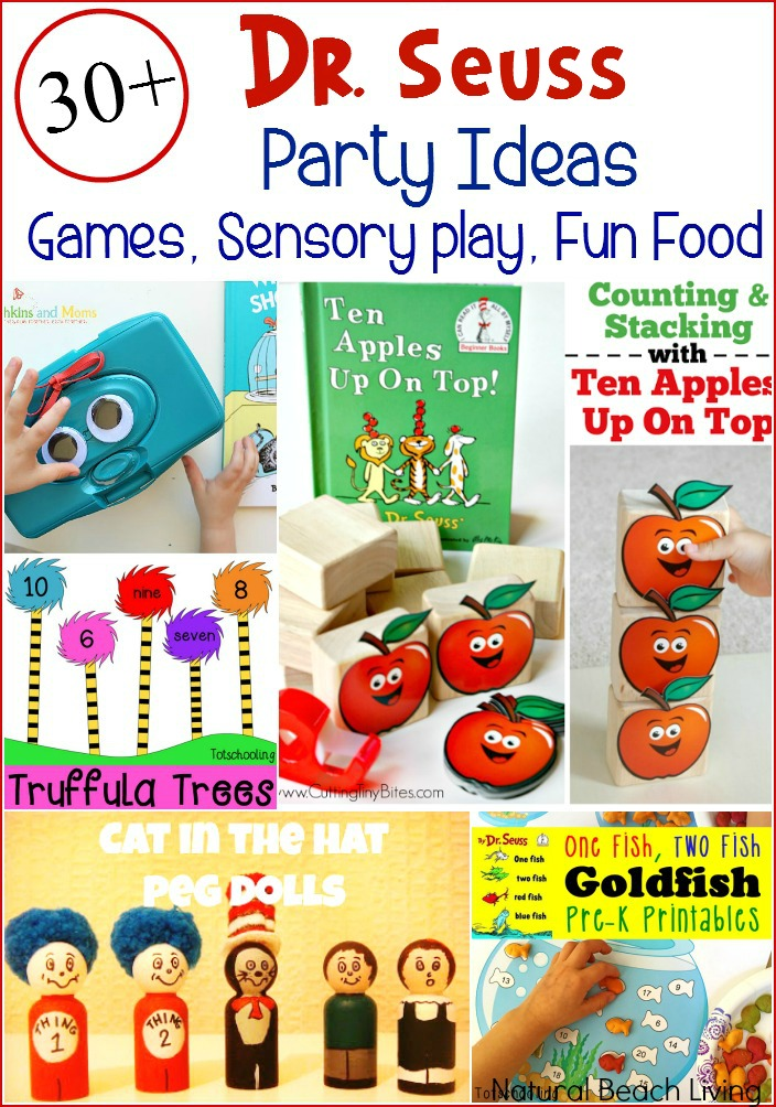 Dr. Seuss Party Ideas, Dr. Seuss free bookmarks, free printables for kids, Dr. Seuss activities