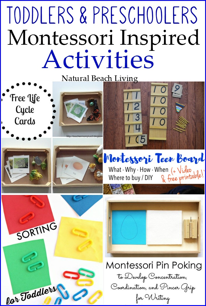 Montessori Inspired Learning with Toddlers & Preschoolers (Linky 55)