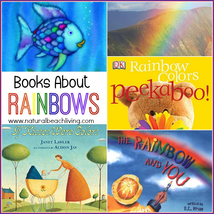 10 Great Books about Rainbows, Rainbow books for preschoolers, Picture Books, Science, Books for a preschool Color Themes, These Rainbow books are Perfect for Spring, Great for toddlers, preschoolers, and Kindergarten