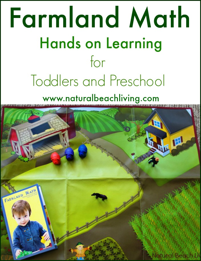 Hands on Toddler and Preschool Math, 36 week curriculum with great stories and hands on learning, Farm Math for toddlers and preschoolers is so much fun!