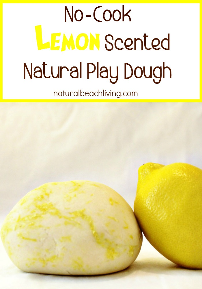 No Cook Lemon Scented Natural Play Dough