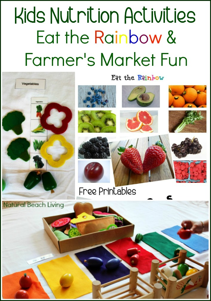 preschool Health Lessons and activities, Teaching Kids to Eat Healthy with Fun Hands on activities, Kids Nutrition Activities, Free Healthy Foods Nutrition Printables and a Fun Farmer's Market Scavenger Hunt, Preschool Food Groups Sorting Activities
