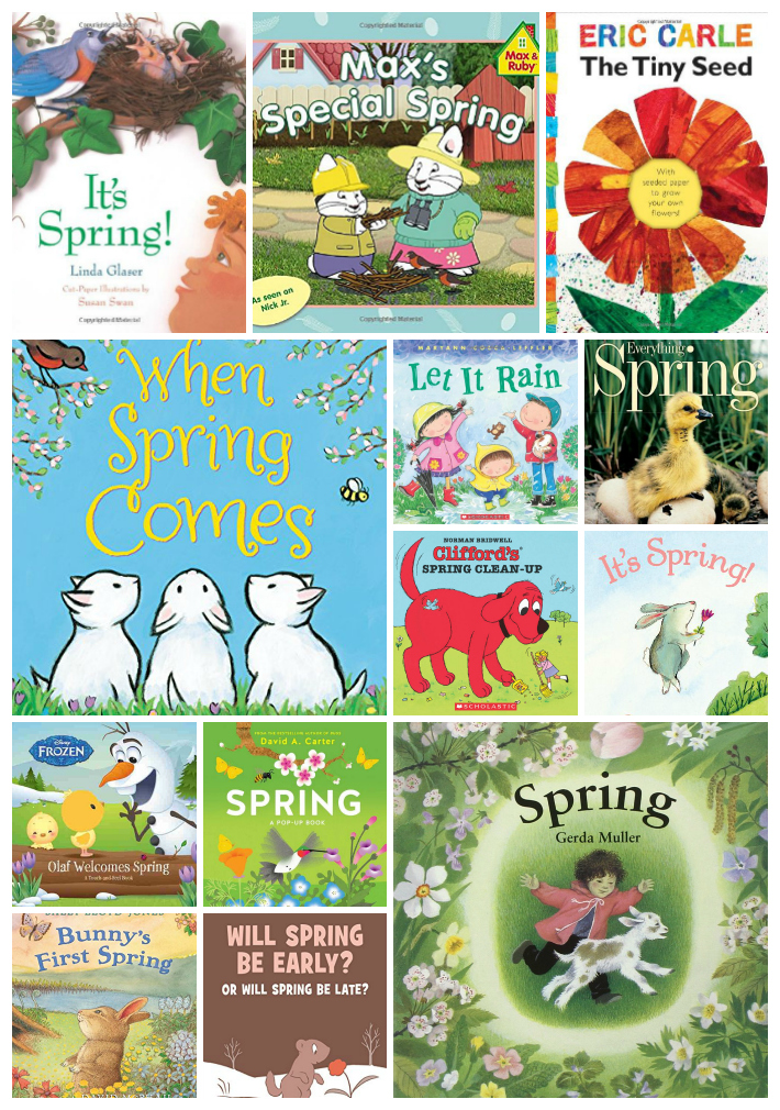 25 Amazing Spring Books for Kids, Themes, Unit Studies, Bunnies, Seeds, Toddler and Preschool books that your children will Love.