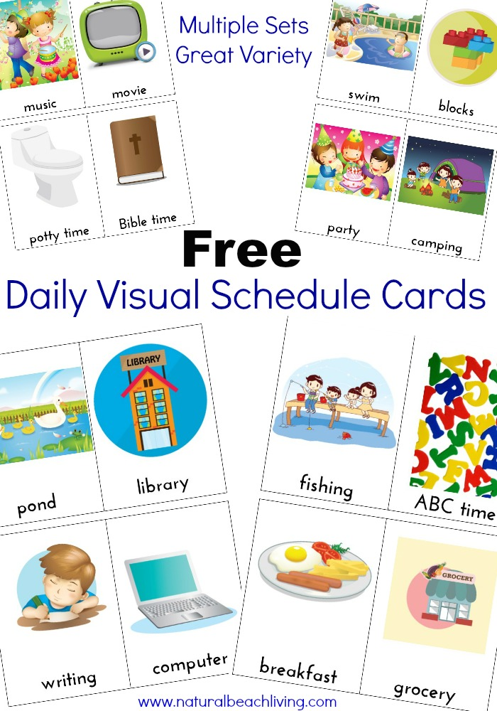 photo regarding Printable Visual Schedule Pictures called Excess Day-to-day Visible Program Playing cards Cost-free Printables - Organic