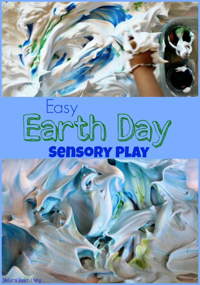 Easy 2 Ingredient Earth Day Sensory Play for Kids, Earth Day Activity fun for kids, Perfect sensory play for classrooms and home