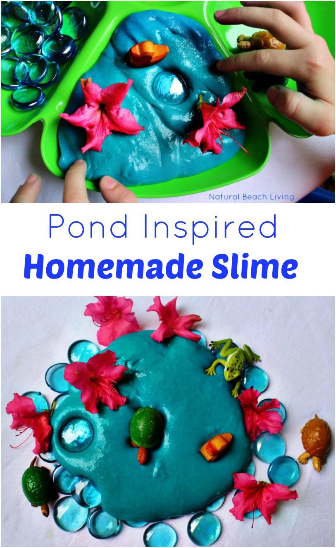 Easy Pond Inspired Homemade Slime Recipe