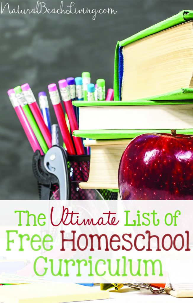 The Ultimate List of Free Homeschool Curriculum, A HUGE list for All ages Toddler, Preschool, Elementary, Middle School and High School Free Curriculum. You CAN Homeschool on a budget or no budget at all.