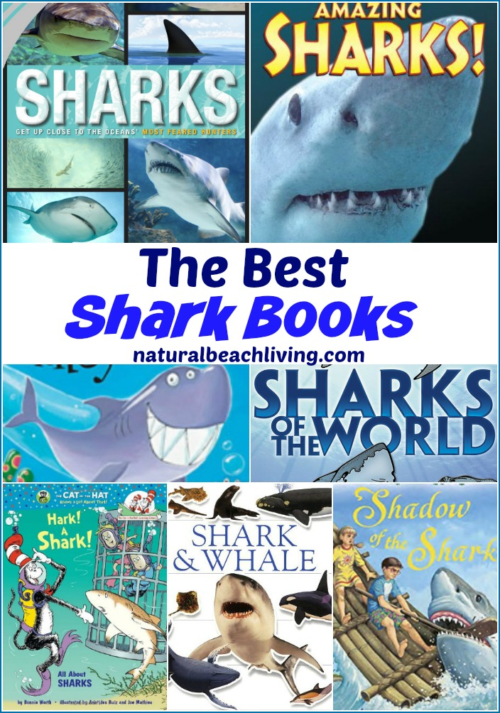 The Best Shark Books for Kids, Here you'll find the ultimate shark books, Activity books for kids, Fiction and non- fiction books for kids, Add these to your Ocean Theme, Under the Sea Preschool or just for something great to read. Shark Week Activities too.
